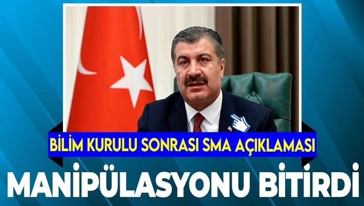 Sağlık Bakanı Fahrettin Koca'dan flaş SMA açıklaması: Bilimin gösterdiği her yolu...