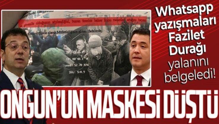 SON DAKİKA: WhatsApp yazışmaları CHP'li İBB'nin yalanını belgeledi: Murat Ongun'un maskesi düştü