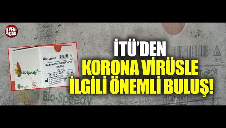 İTÜ'den korona virüs için önemli buluş!