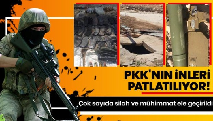 Pençe Kaplan Operasyonu'nda PKK'nın silah ve mühimmatı ele geçirildi