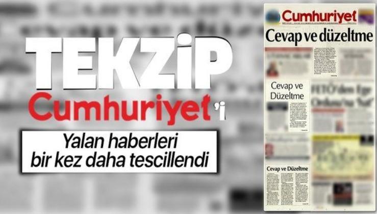 Güven sembolü gazeteden eser kalmadı! Tekzip Cumhuriyet'i!