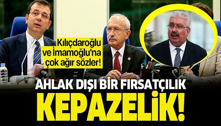 MHP'li Semih Yalçın'dan Kılıçdaroğlu ve İmamoğlu'na çok ağır sözler: Ahlak dışı bir fırsatçılık ve kepazelik.