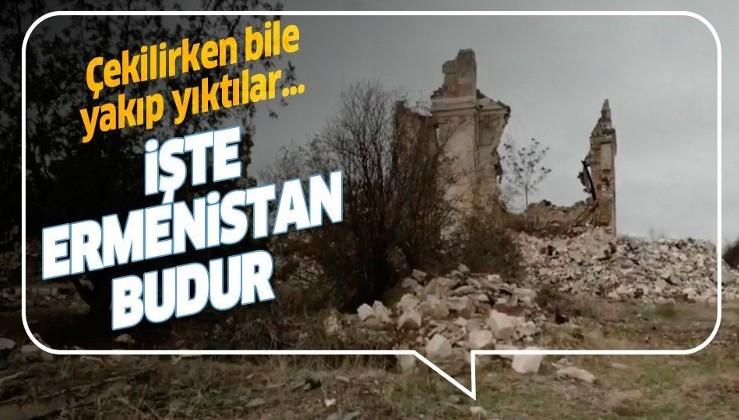 Ermenistan Ağdam'dan çekilirken bile her yeri yakıp yıktı