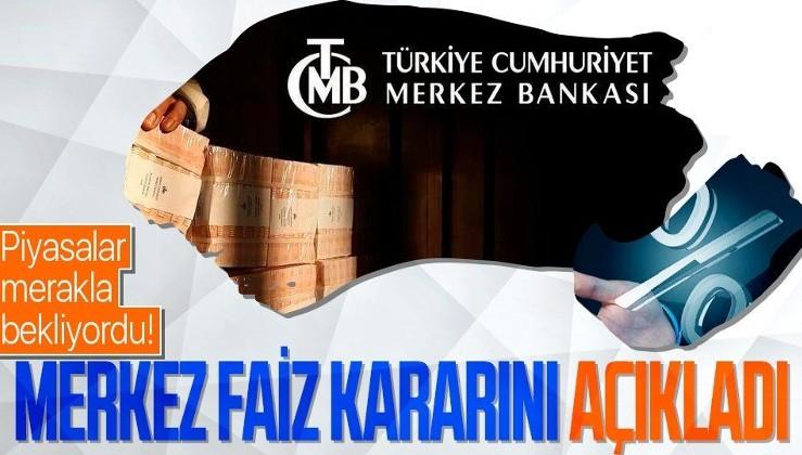 SON DAKİKA: Merkez Bankası faiz kararını açıkladı: Yüzde 19'da sabit tutuldu