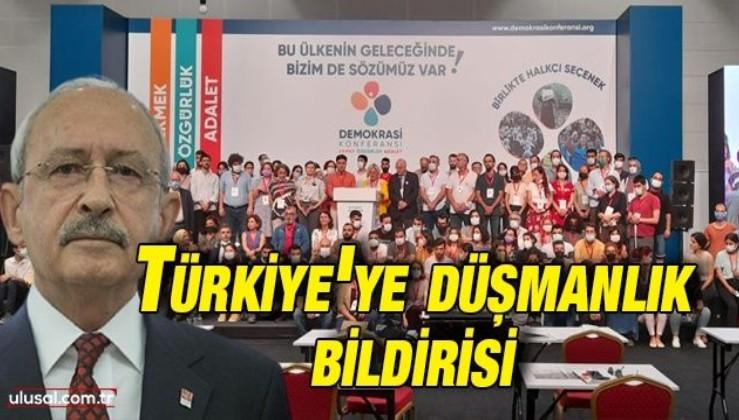 Türkiye'ye düşmanlık bildirisi