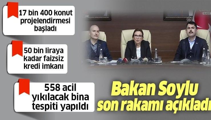 Son dakika: Bakan Soylu, Pekcan ve Kurum'dan Elazığ'daki deprem bölgesinde önemli açıklamalar.