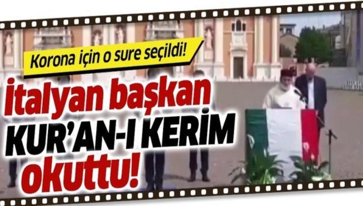 İtalya'da belediye başkanı koronavirüse karşı Kur'an-ı Kerim okuttu