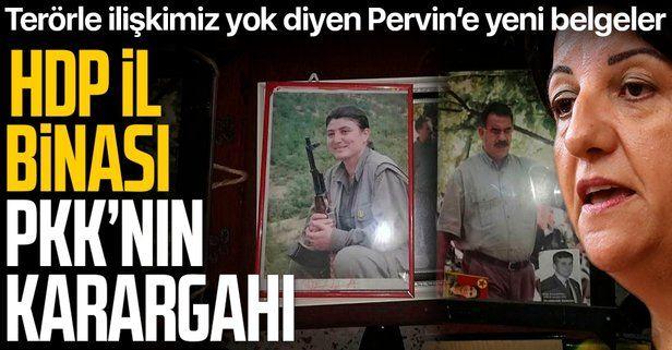 SON DAKİKA: HDP il binasında terör örgütü PKK paçavraları ele geçirildi