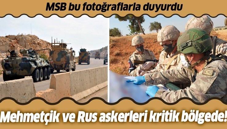 MSB duyurdu: İdlib'deki M4 Karayolunda 20'nci Türk-Rus Birleşik Kara Devriyesi icra edildi