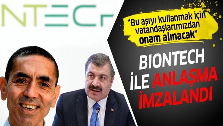 Son dakika: Sağlık Bakanı Fahrettin Koca, BioNTech firmasıyla anlaşma imzalandığını açıkladı