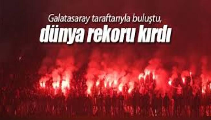 Galatasaray taraftarıyla buluştu, dünya rekoru kırdı