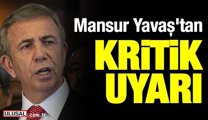 Ankara Büyükşehir Belediye Başkanı Mansur Yavaş'tan 'bankamatik memuru' haberlerine dair uyarı