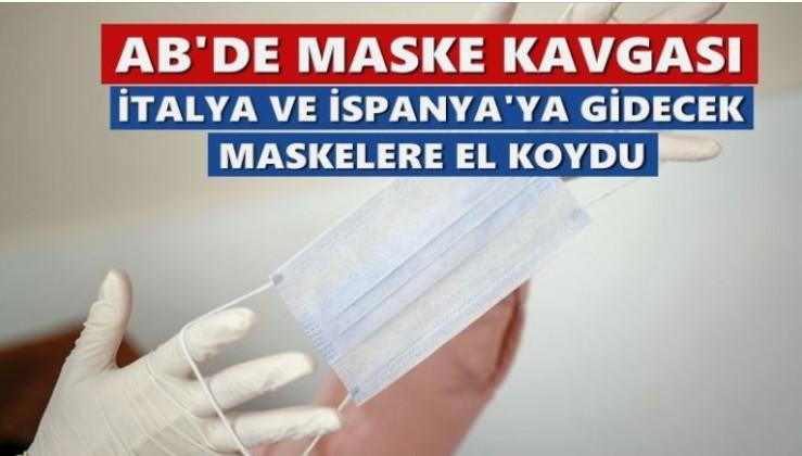 Fransa, İtalya ve İspanya'ya gönderilecek maskelere el koydu