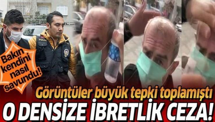 Son dakika: İstanbul'da yaşlı adama maske takıp kolonya döken kişiye ibretlik ceza.