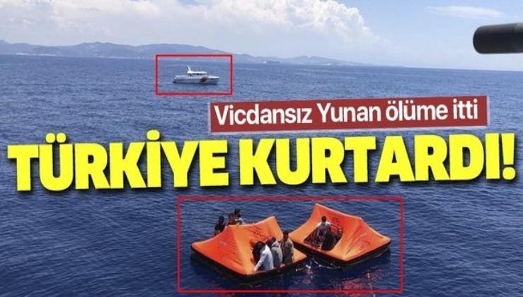 Son dakika: İzmir'de Yunan güvenlik güçlerince Türk kara sularına bırakılan 36 düzensiz göçmen kurtarıldı