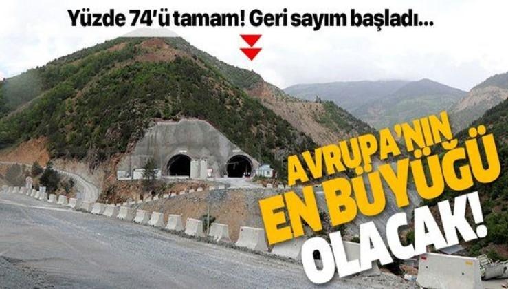 Avrupa'nın en uzunu olacak! Zigana Tüneli'nin yüzde 74'ü tamamlandı