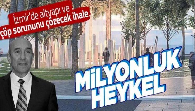 İzmir'de Tunç Soyer'den fahiş heykel ihalesi: Terör saldırısında ölen HDP'liler için 1 milyon 915 bin liralık