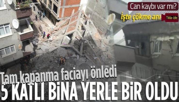 SON DAKİKA: İstanbul Zeytinburnu'nda 5 katlı bina çöktü! Faciadan dönüldü İşte binanın çöktüğü anlar