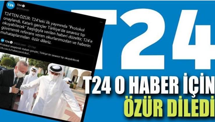 T24 o haber için özür diledi