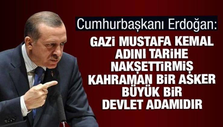 """""""Cumhuriyetimizin kurucusu Gazi Mustafa Kemal Atatürk'e İstiklal mücadelesindeki önderliğinden dolayı"""""""