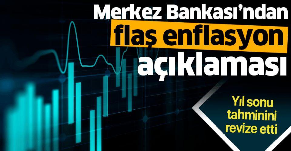 Merkez Bankası'ndan flaş enflasyon açıklaması: Gıda enflasyonu tahminini....