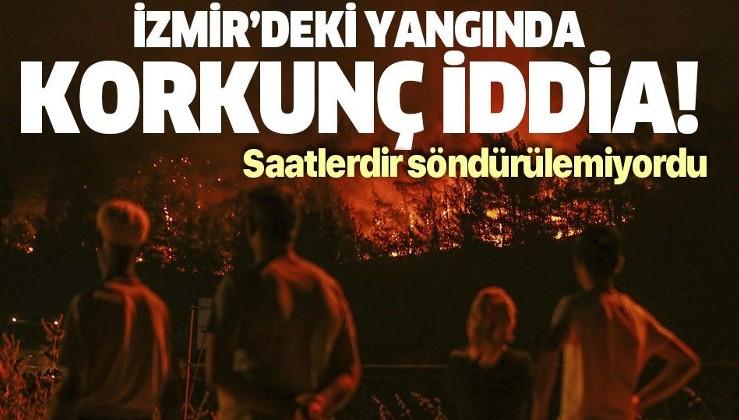 Son dakika: İzmir'deki yangında sabotaj ihtimali araştırılıyor!
