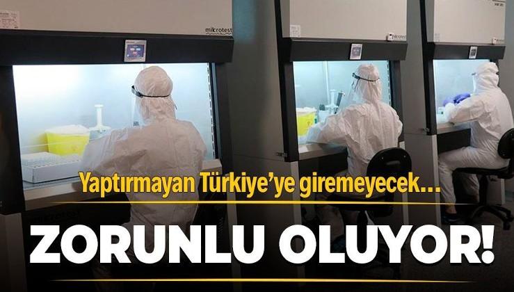 Türkiye'ye gelişte negatif PCR testi istenecek