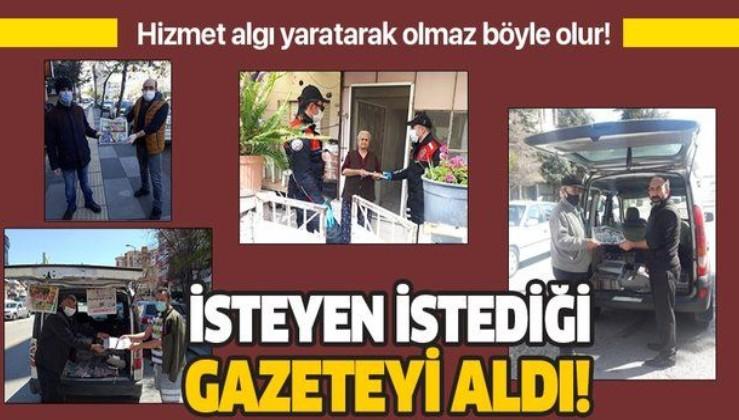 Vefa Sosyal Destek Birimleri sokağa çıkamayan vatandaşlara gazeteleri ulaştırdı!
