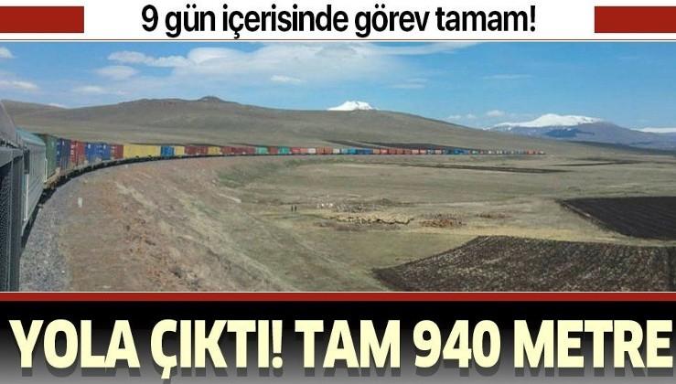 940 metrelik ihracat treni Türkiye'den Orta Asya'ya doğru yola çıktı!