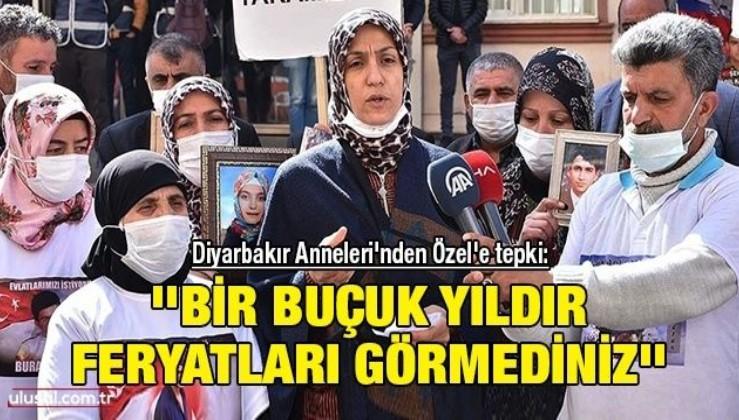 Diyarbakır Anneleri'nden Özel'e tepki: ''Bir buçuk yıldır feryatları görmediniz''