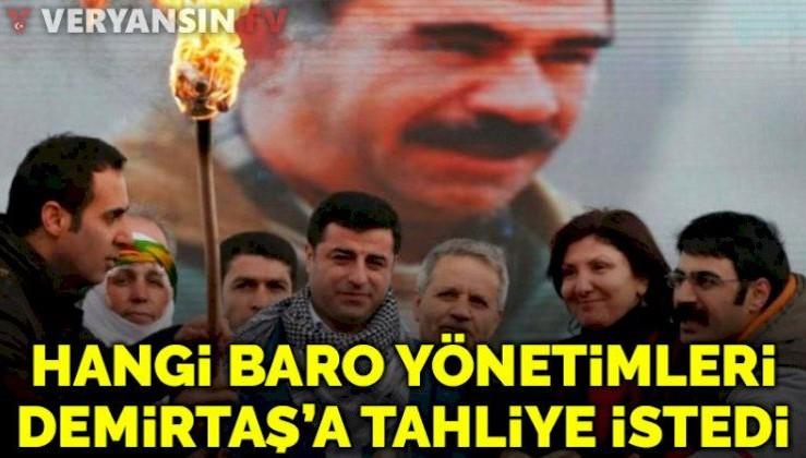 Feyzioğlu'na muhalif 23 baro teröristbaşı Demirtaş için tahliye istedi!