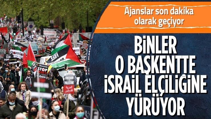 SON DAKİKA: Filistinlilerin katledilmesi protesto ediliyor!