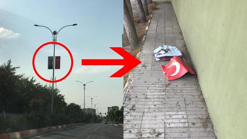 HDP'li belediyenin Türk bayrağına tahammülü yok