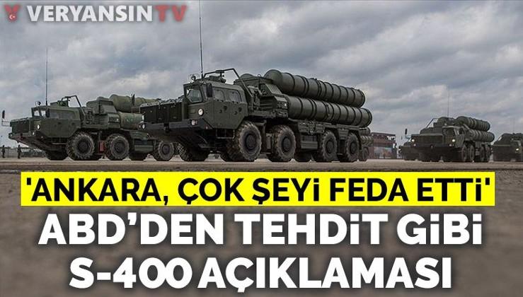 ABD'den Türkiye'ye yeni S-400 tehdidi