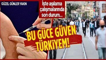 Son dakika: Türkiye'de nüfusun yaklaşık yüzde 25'ine birinci doz koronavirüs aşısı uygulandı
