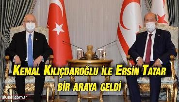 KKTC Cumhurbaşkanı Ersin Tatar CHP Genel Başkanı Kemal Kılıçdaroğlu'nu kabul etti