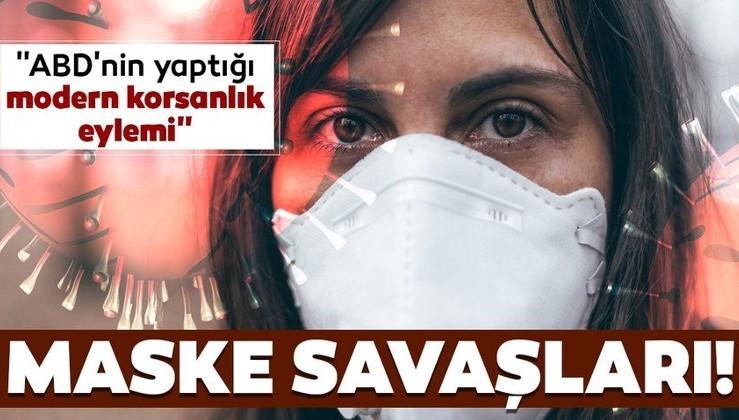 Coronavirüsü salgınının ardından maske savaşları yaşanıyor! Almanya'nın maskelerine ABD el koydu!