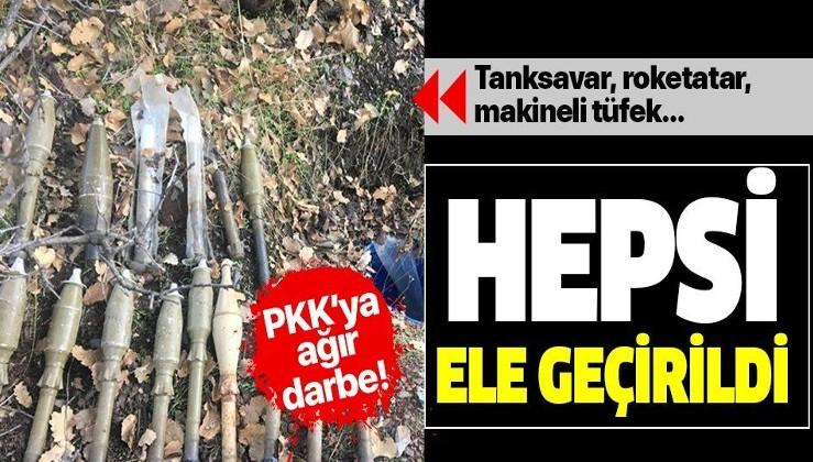 Irak'ın kuzeyinde PKK'ya ağır darbe! Çok sayıda mühimmat ele geçirildi!