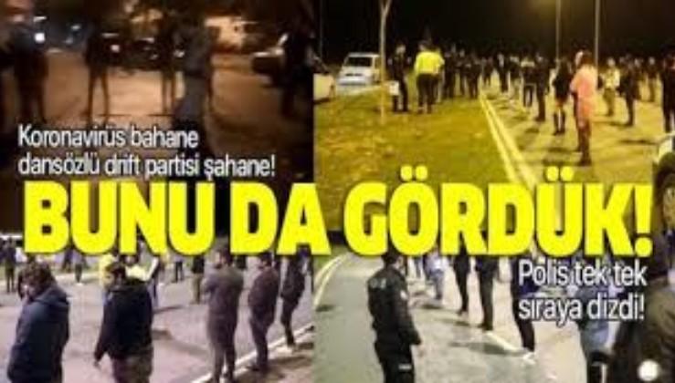 Son dakika: Antalya'da şoke eden görüntüler! Dansözlü drift partisine polis baskını: 51 kişiye ceza.