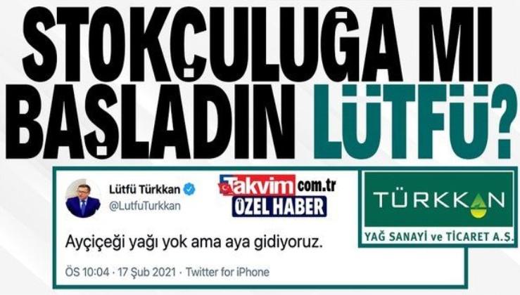 """""""Yağ yok ama uzaya gidiyoruz"""" diyen Lütfü Türkkan'ın yağ fabrikası sahibi olduğu ortaya çıktı"""