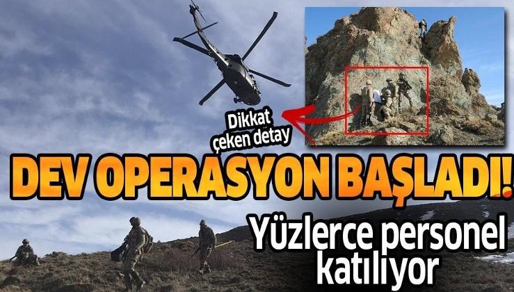 """Son dakika: """"Kapan-8 Ağrı Dağı-Çemçe-Madur"""" operasyonu 1012 personelin katılımıyla başladı!."""