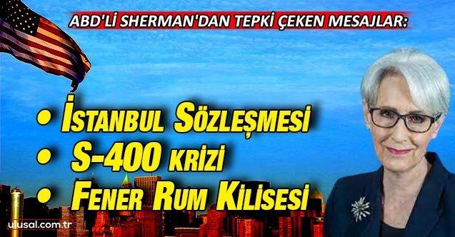 ABD'li Sherman'dan tepki çeken mesajlar