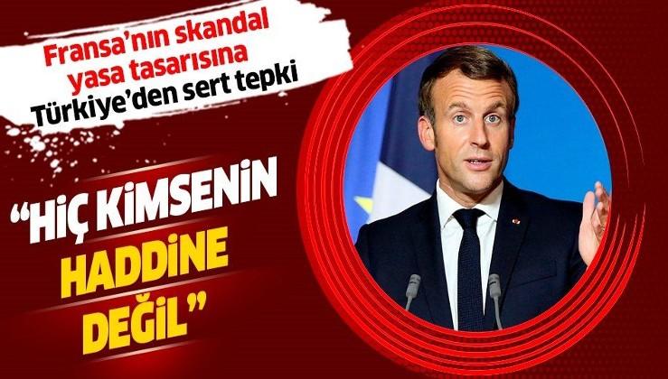 """Türkiye'den Fransa'nın """"Ayrılıkçılıkla Mücadele"""" yasa tasarısına sert tepki: """"Hiç kimsenin haddine değildir"""""""