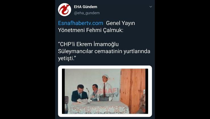 """""""Süleymancılar İmamoğlu'nu destekleyecek"""""""