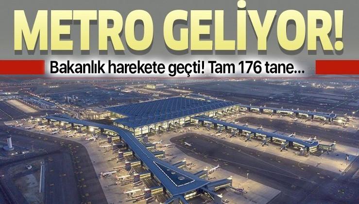Son dakika: İstanbul Havalimanı'na metro geliyor!