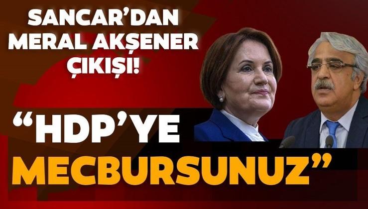 HDP'den İYİ Parti Genel Başkanı Meral Akşener'e sıcak mesajlar! Mithat Sancar: Görüşmek isteriz