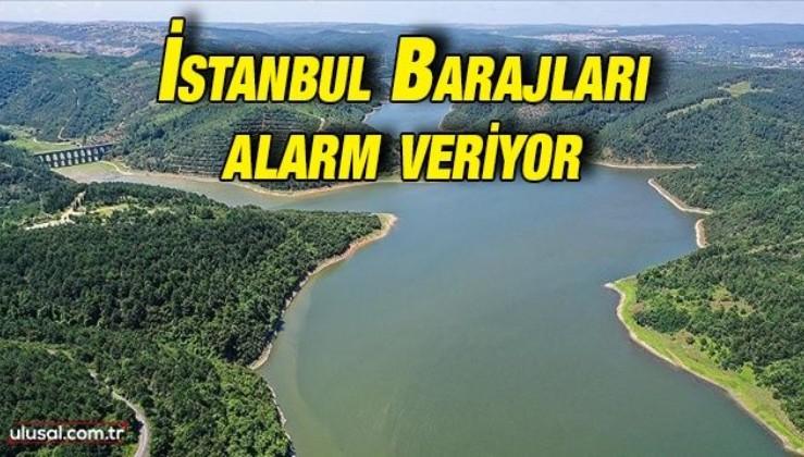 İstanbul'daki barajlarda su seviyesi düştü