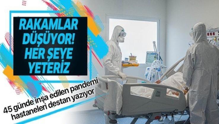 45 günde inşa edilen pandemi hastaneleri Kovid-19'a karşı destan yazıyor: Her şeye yeteriz