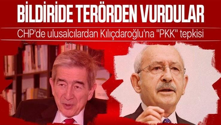 """CHP'de Yılmaz Ateş, Kemal Anadol, Onur Öymen ve Şahin Mengü gibi ulusalcıların öncü isimlerinden Kemal Kılıçdaroğlu'na """"PKK"""" tepkisi"""