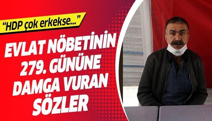 HDP İl Başkanlığı önünde devam eden evlat nöbetinin 279. gününe damga vuran sözler: Vicdansızlık ve namussuzluktur
